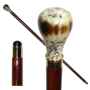 20811 Imitated Horn Stick with Bulb Shaped Handle