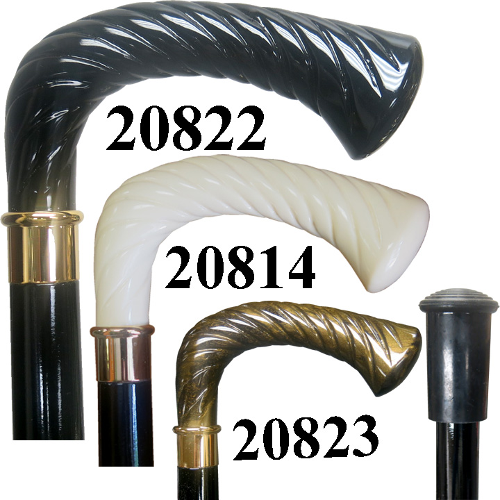 20814 SWIRL HANDLE STICK/ IVORY