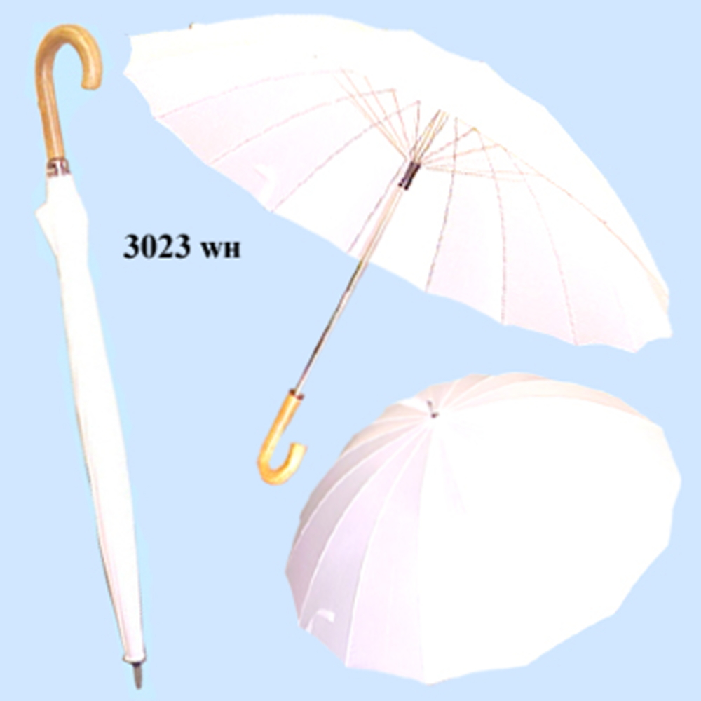 3023WH DOORMAN UMBRELLA/White Color