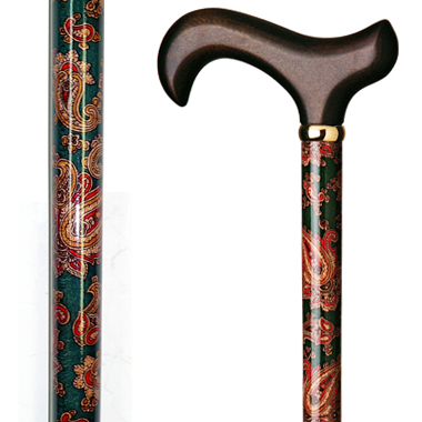 60103 Floral Wood Stick Wrapped with Paisley Pattern