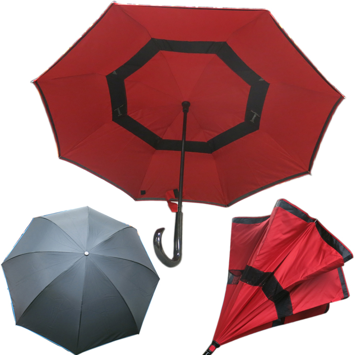 9103RD Reverse Umbrella with Ventilation /Red