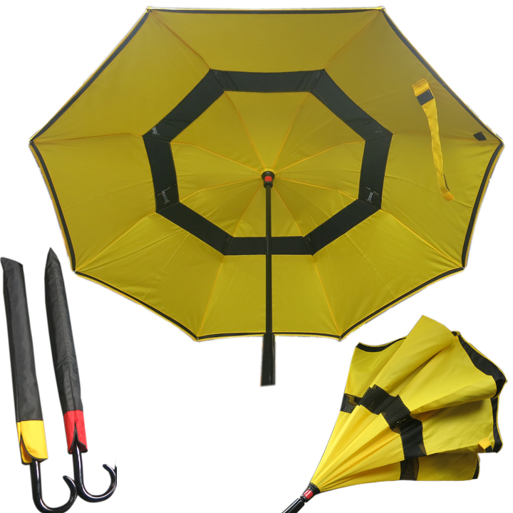 9103YW Reverse Umbrella with Ventilation /Yellow