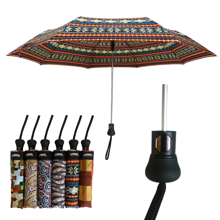 5025P DELUXE AUTOMATIC FOLDING UMBRELLA / WITH AFRICAN PRINTS