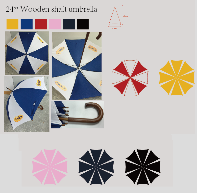 3011 Overseas Imprint Umbrella / Classic W/ Stick