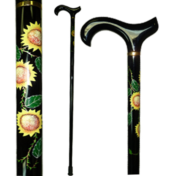 W-034 Hand Painted Sunflower Stick