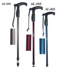 AL-032 TELESCOPIC HIKING STAFF/NAVY COLOR