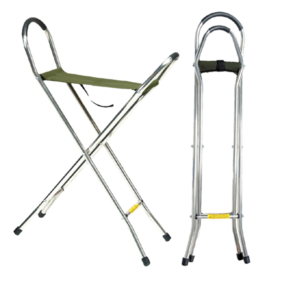 "M-16214 Canvas Seat Stick/34"" Height, Weight Capacity 275 LBS"