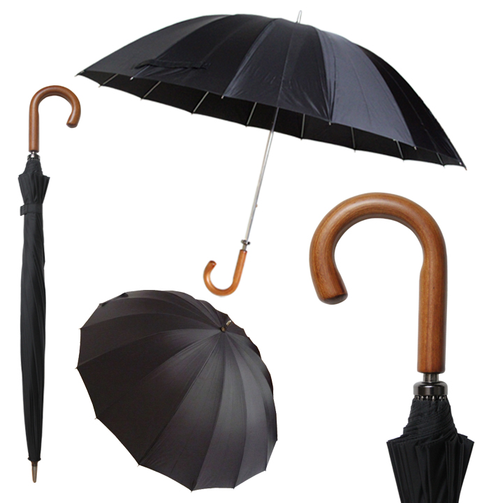 3023B DOORMAN UMBRELLA/Black