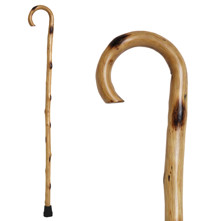 20501 Natural Wood Stick with Round Handle in Natural Color