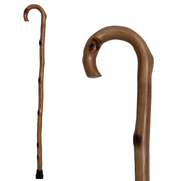 20502 Natural Wood Stick with Round Handle