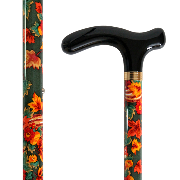 AL-072 Exotic Floral Stick with Adjable Height/ Maple Leaves