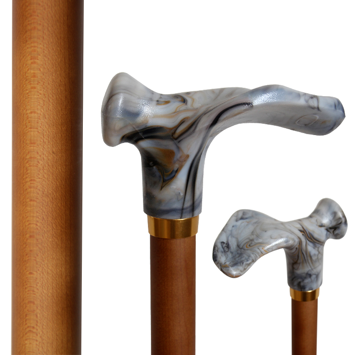 30102R Right Contoured Handle Stick/Maple Wood