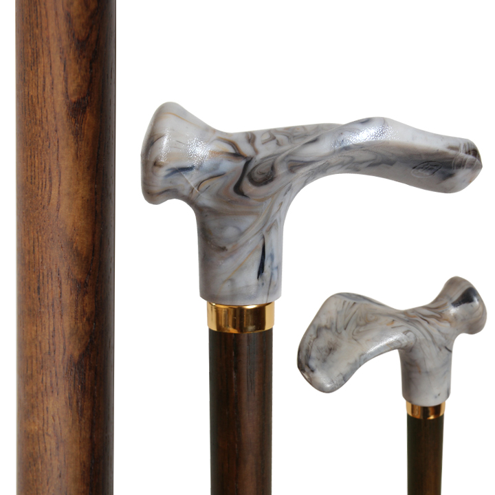"30104R Right Hand ""Contoured"" Handle Stick/ Ash Wood"